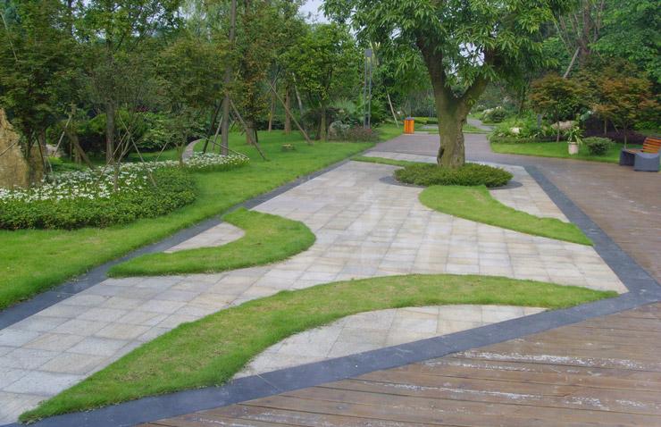 分享到: 武汉景观工程——园林铺装的地面施工: 1.